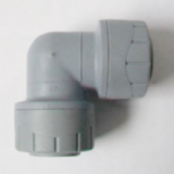 Polyplumb Push Fit 15mm Pipe Bent 90 Elbow Fitting - 29P12015